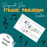 Drag-and-Drop Music Staff Notation Template (Google Slides)