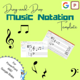 Drag-and-Drop Music Staff Notation Template (Google Slides