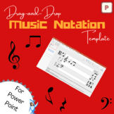 Drag-and-Drop Music Staff Notation Template (PowerPoint)