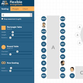 seating chart maker flexible arrangements by coelho software tpt