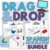 Drag and Drop Spanish Articulation - Words and Sentences BUNDLE