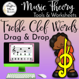 Drag and Drop Treble Clef Words for Google Slides