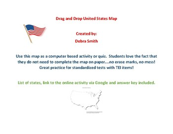 Drag and Drop United States Map
