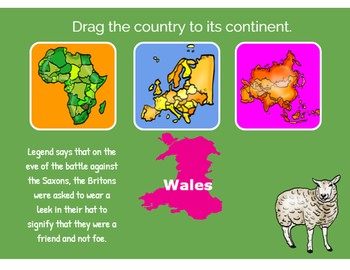 Drag and Drop the Country-Boom Cards