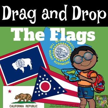 Drag and Drop the State Flags-Boom Cards