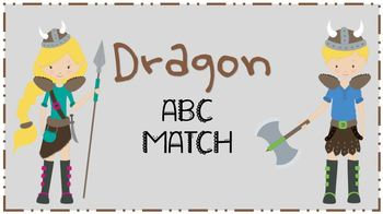 Dragon ABC File Folder Game
