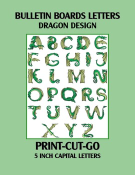 Dragon Bulletin Board Letter Set Print-Cut-Go