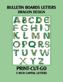 Dragon Bulletin Board Letter Set Print-Cut-Go