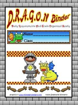 Dragon {Castle or Medieval} Binder Cover