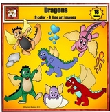 Dragon Clip art from Charlotte's Clips