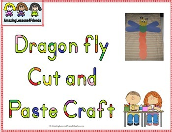 Dragonfly Cut and Paste Craft