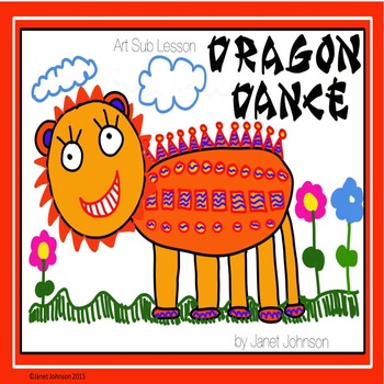Kindergarten drawing of a Chinese dragon parage