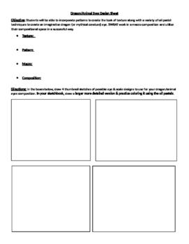 Dragon Eyes Design Sheet