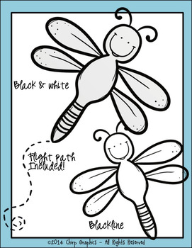 Dragonfly Multi-Color Clip Art Set - Chirp Graphics