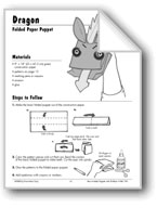 Dragon Folded Paper Puppet
