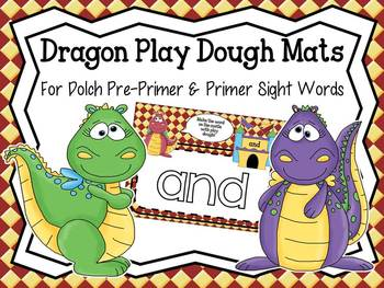 Dragon Fun Play Dough Mats for Dolch Pre-Primer and Primer