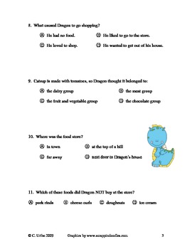 Dragon Gets By ~ Reading Comprehension Quiz/Test ~ Houghton Mifflin®