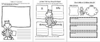 Dragon Gets By - Shopping Chapter! Language Arts Writing Activities