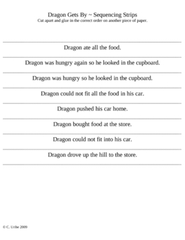 Dragon Gets By Story Sequence Strips ~ Houghton Mifflin® Reading