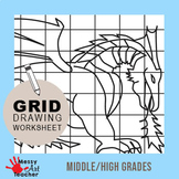 Dragon Grid Drawing for Middle/High Grades