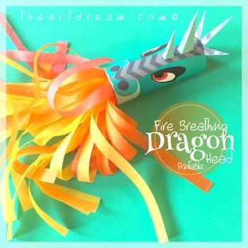 Dragon Head Toilet Tube Craft Printable