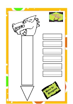 Dragon High Frequency Word Phonics Bookmark