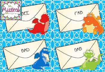 Dragon Letters: Treble Clef Word Game for the Kodaly or Orff Music Class