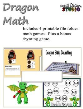 Dragon Math- File Folder Games