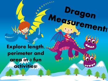 Dragon Measurement!  Find Length, Perimeter and Area