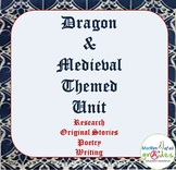 Dragon & Medieval Classroom Themed Unit. - Poetry, Stories, Writing, Research