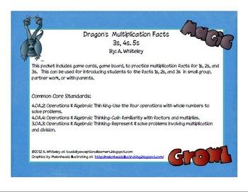 Dragon Multiplication 3s, 4s, 5s