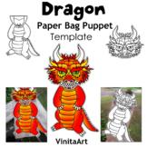 Dragon Paper Bag Puppet Template