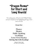 Dragon Poems for Short and Long Vowels!