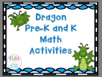Dragon Pre-K and K Math Activities