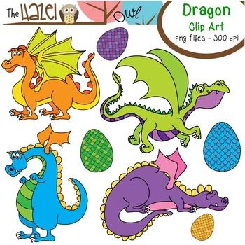 Dragon Set: Clip Art Graphics for Teachers