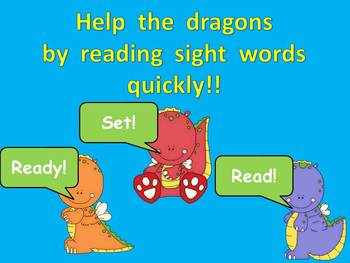 Dragon Sight Word Fluency PowerPoint- Second 50 Fry Words