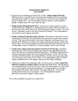 Dragon Song Book Project - Anne McCaffrey