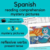 Mermaid Spanish Story reading beginner Spanish with PRINTABLE MYSTERY PICTURES