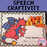 Dragon Speech Therapy Craft {all sounds year 'round} plus language concepts