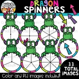 Dragon Spinners Clipart {Dragon Clipart}