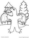 Dragon Stick Puppet Coloring Page