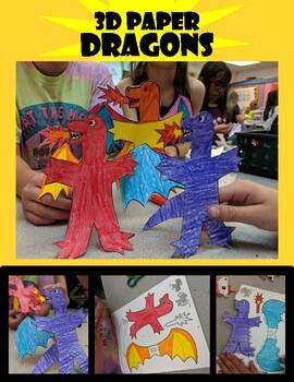 Dragon Stick Puppets Art Project