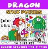 Dragon Stick Puzzles 1 to 10 & 11 to 20 Preschool & Kinder