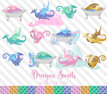 Dragon Sweets Vector PNG clipart graphics, desserts, coffee, cupcake, birthday