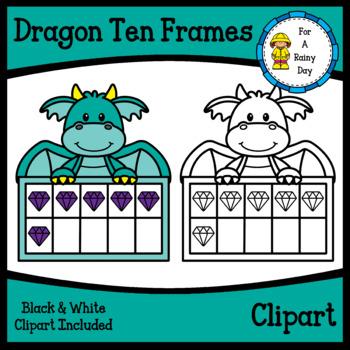 Dragon Ten Frames Clipart