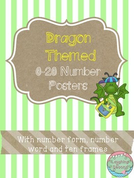 Dragon Themed 0-20 Numbers Posters