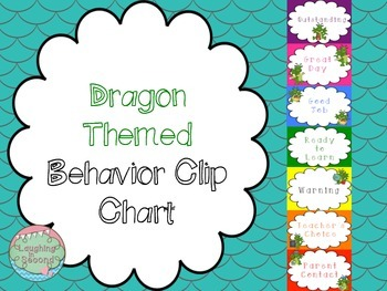 Dragon Themed Behavior Clip Chart