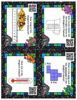 Dragon Themed Measurement Task Cards