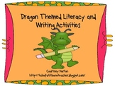 Dragon Themed Writing Literacy and Math Unit and station Activities