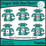 Dragon With Dice Clipart Freebie-Teacher Appreciation Freebie